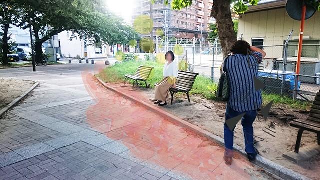 久留米の結婚相談所ラフターマリッジの婚活プロフィールの撮影風景